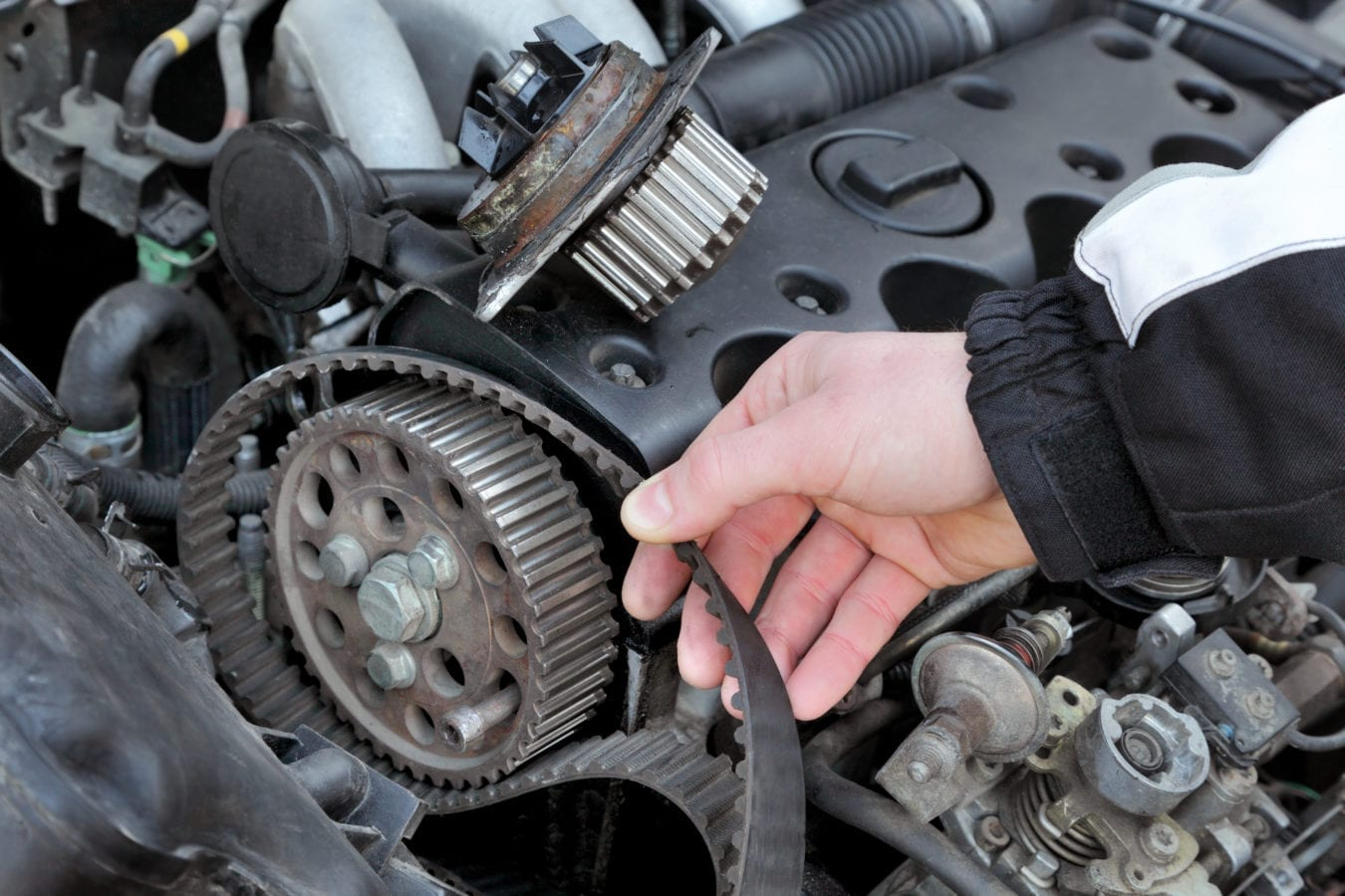 Car-Mechanic-Timing-Belt-Replacement